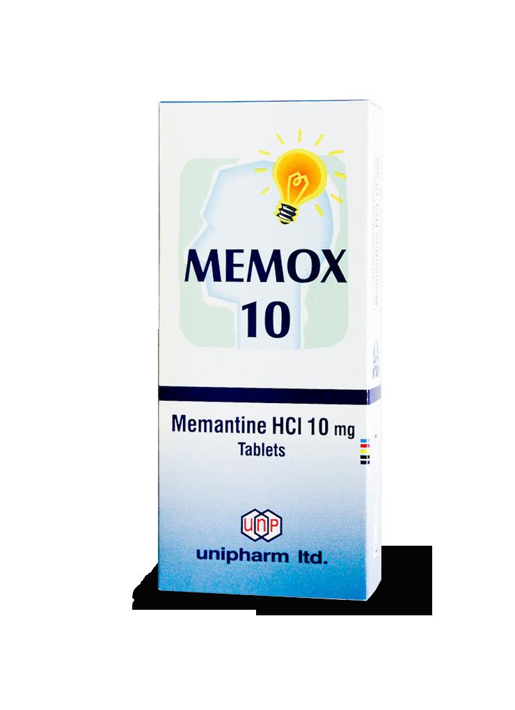 Мемокс, Memox, Мемантин, 10 мг