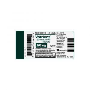 Вотриент, Votrient, Пазопаниб, 400 мг