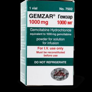 Гемзар, Gemzar, Гемцитабин, 1 гр